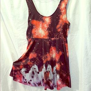 Unicorns in space skater dress